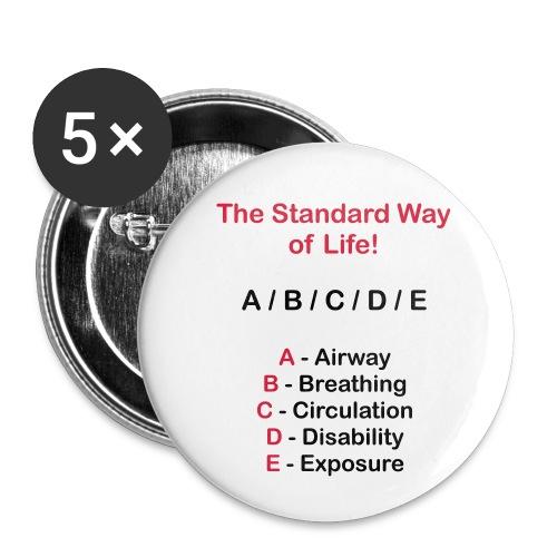 Rettungsdienst ABC Schema - Buttons klein 25 mm (5er Pack)