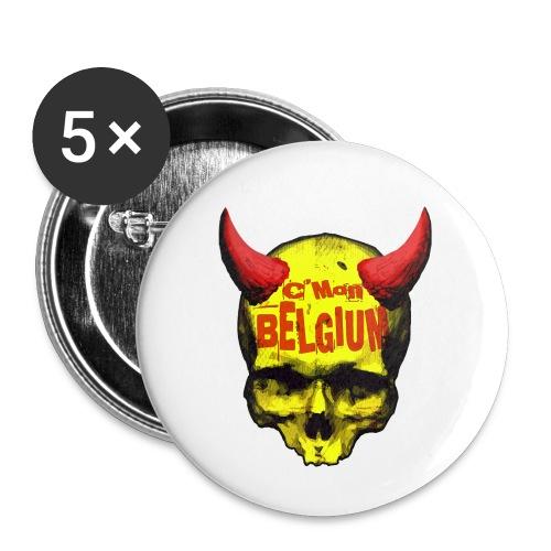 Belgium Devil 2 - Buttons klein 25 mm (5-pack)