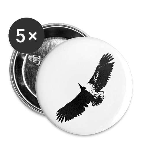 Fly like an eagle - Buttons klein 25 mm (5er Pack)