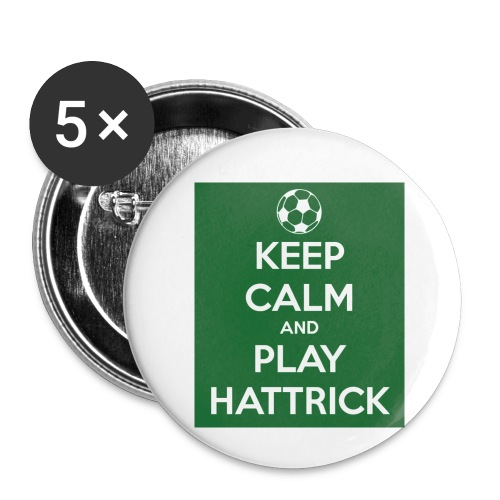 keep calm and play hattrick - Confezione da 5 spille piccole (25 mm)
