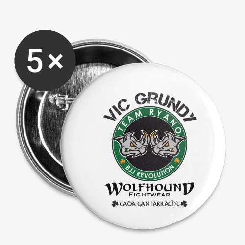 vic grundy back png - Buttons small 1''/25 mm (5-pack)