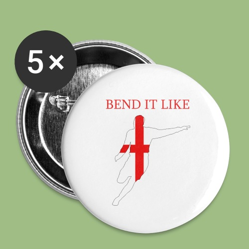 Bend It Like DavidBeckham - Små knappar 25 mm (5-pack)