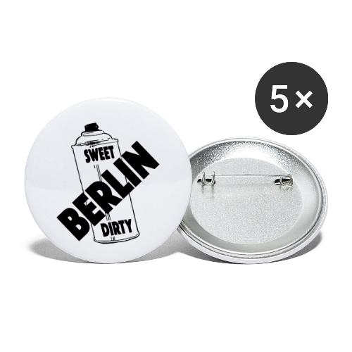 Berlin Sweet Dirty - Buttons klein 25 mm (5er Pack)