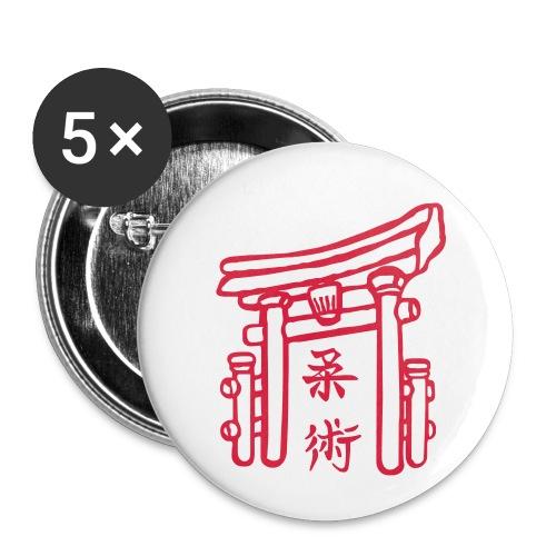 Jiujitsu_Tor - Buttons klein 25 mm (5er Pack)