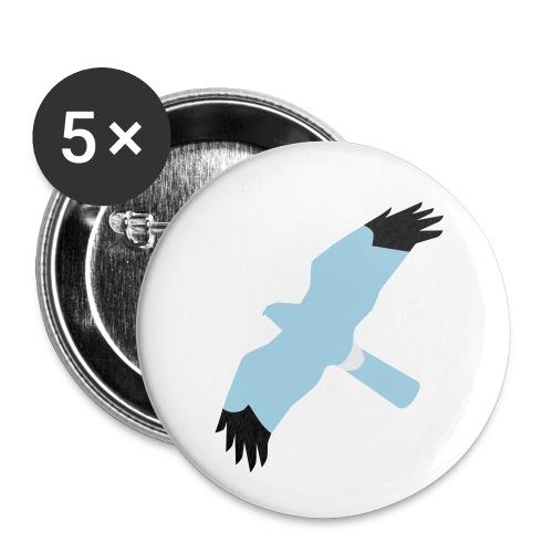 BAWC HHD Splat Design v3F - Buttons small 1''/25 mm (5-pack)
