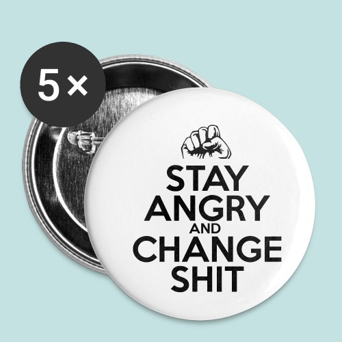 Stay Angry - Buttons small 1''/25 mm (5-pack)