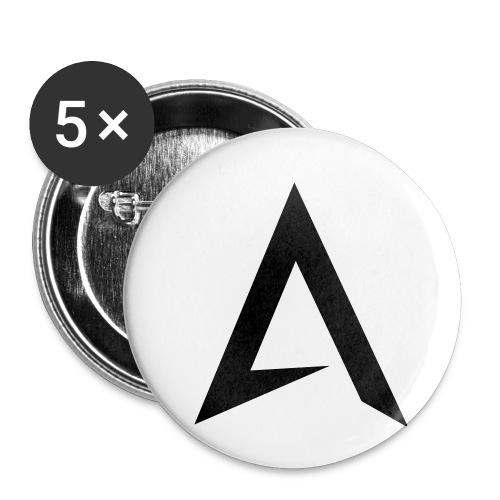 alpharock A logo - Buttons small 1''/25 mm (5-pack)