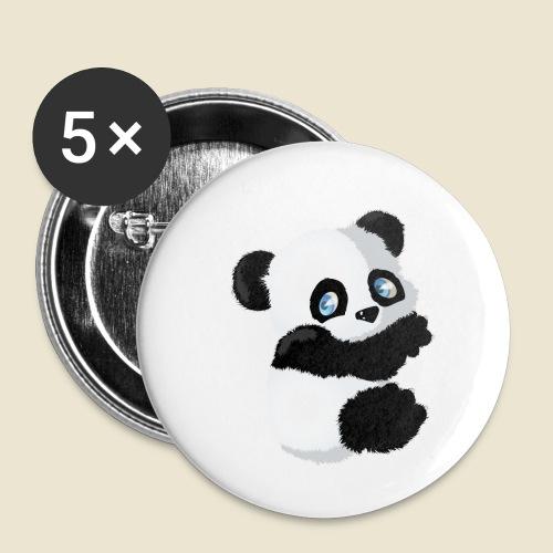 Bébé Panda - Lot de 5 petits badges (25 mm)