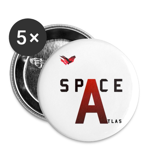 Space Atlas Baseball Long Sleeve Capital A - Buttons/Badges lille, 25 mm (5-pack)