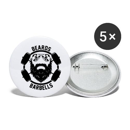 beards and barbells - Buttons klein 25 mm (5-pack)