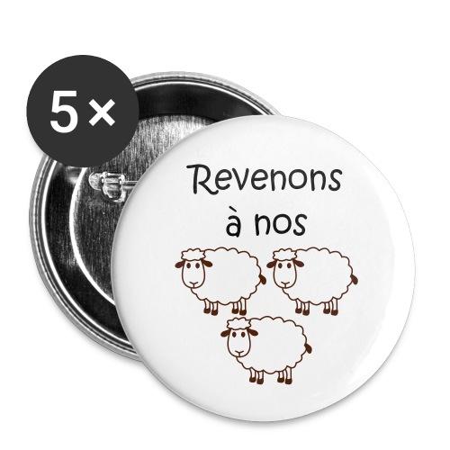 revenons-a-nos utons - Lot de 5 petits badges (25 mm)
