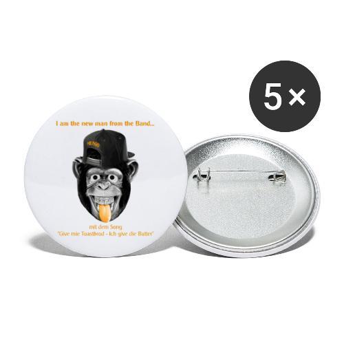 Musgo der Affe - Buttons klein 25 mm (5er Pack)