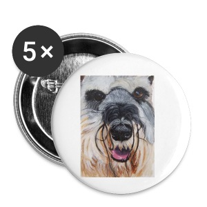 schnauzer - Buttons/Badges lille, 25 mm