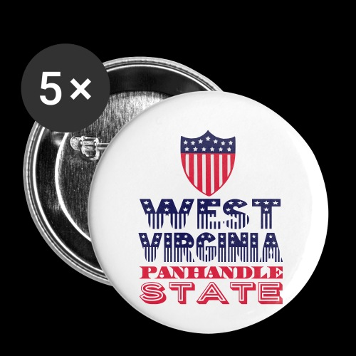 west virginia panhandle - Buttons small 1''/25 mm (5-pack)