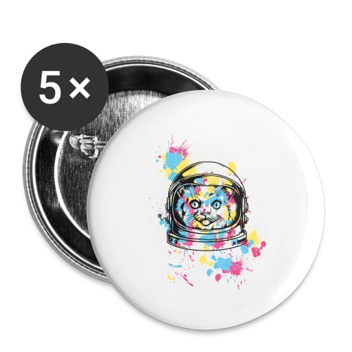 Space Cat - Buttons klein 25 mm (5er Pack)