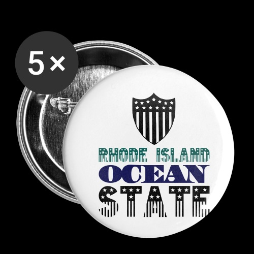 rhode island ocean state - Buttons small 1''/25 mm (5-pack)