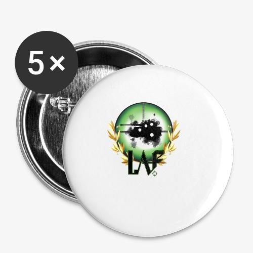 Load Aim Fire Merchandise - Buttons klein 25 mm (5-pack)