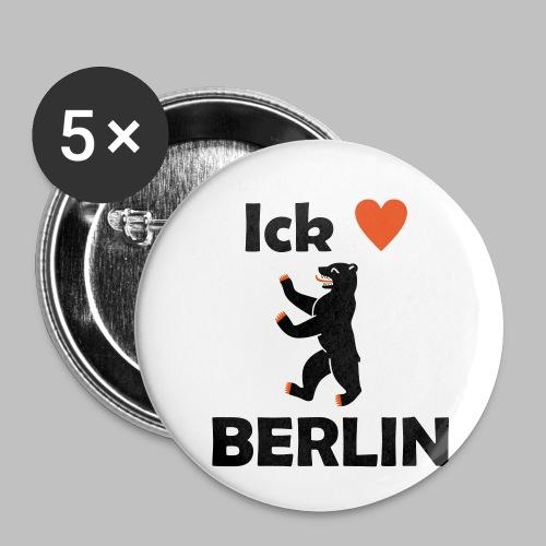 Ick liebe ❤ Berlin - Buttons klein 25 mm (5er Pack)