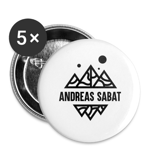 Andreas Sabat - Buttons/Badges lille, 25 mm (5-pack)