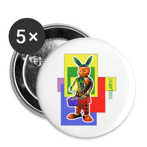 smARTkids - Slammin' Rabbit - Buttons small 1''/25 mm (5-pack)
