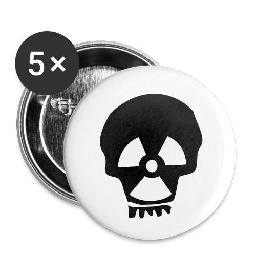 totenkopf nuklear - Buttons klein 25 mm (5er Pack)