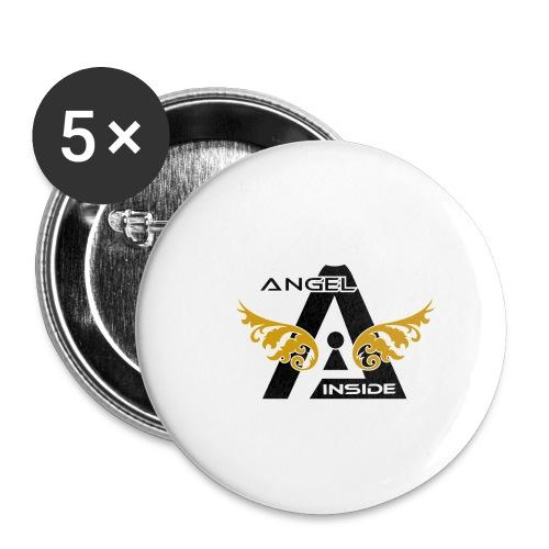 ANGEL INSIDE2-01 - Confezione da 5 spille piccole (25 mm)