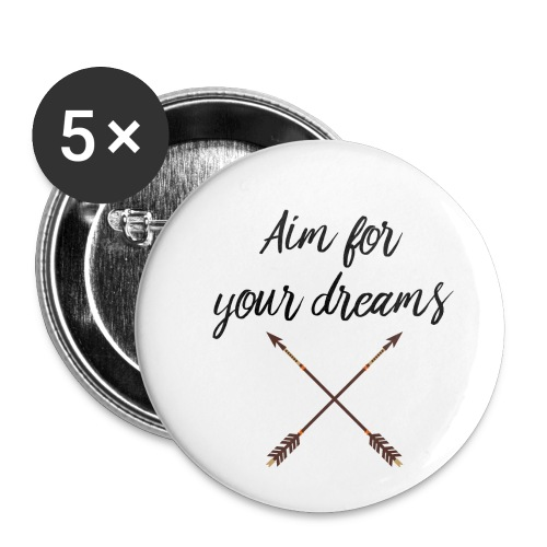 Aim for your Dreams - Rintamerkit pienet 25 mm (5kpl pakkauksessa)