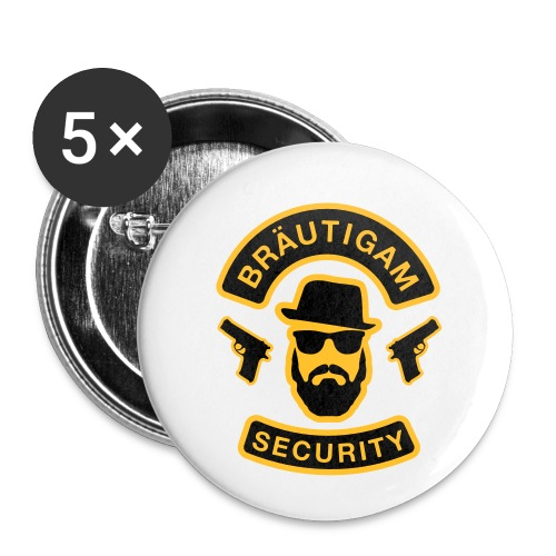 Bräutigam Security - JGA T-Shirt - Bräutigam Shirt - Buttons klein 25 mm (5er Pack)