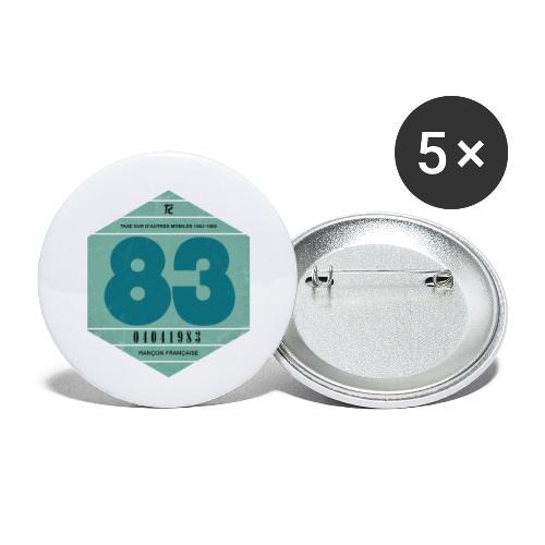 Vignette automobile 1983 - Lot de 5 petits badges (25 mm)