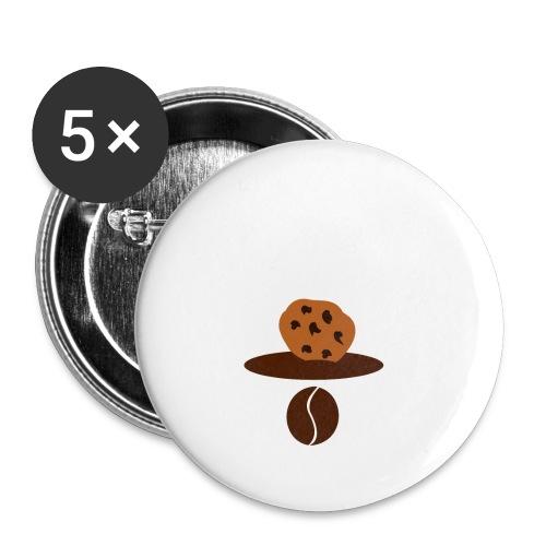 Cookies Kaffee Nerd Geek - Buttons klein 25 mm (5er Pack)