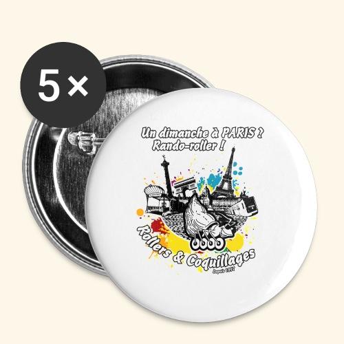 Splash - Lot de 5 petits badges (25 mm)