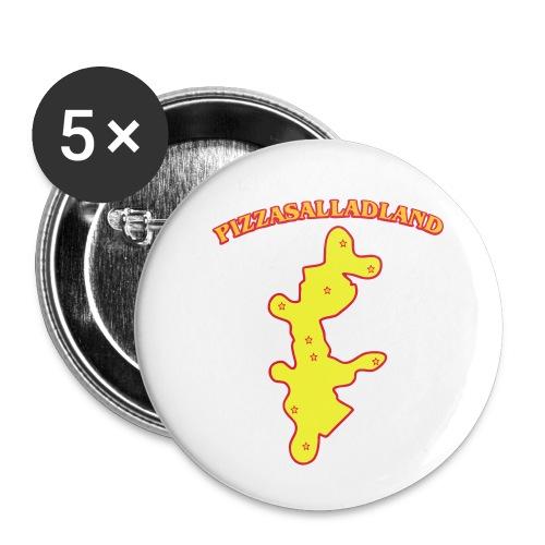Pizzasalladland - Små knappar 25 mm (5-pack)