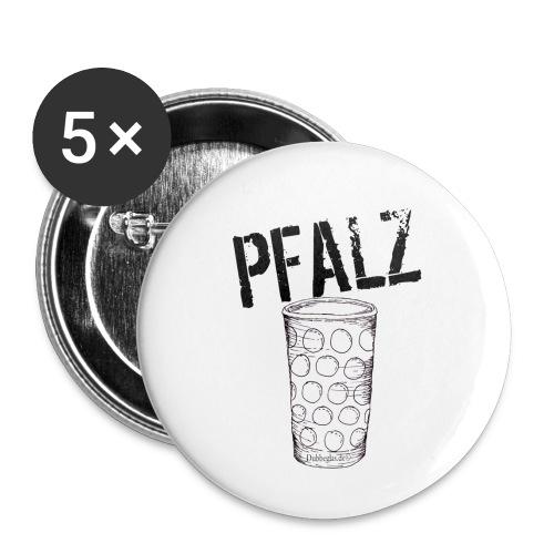Pfalzshirt mit Dubbeglas, weiß - Buttons klein 25 mm (5er Pack)