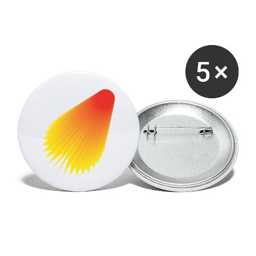shuttle - Buttons small 1''/25 mm (5-pack)