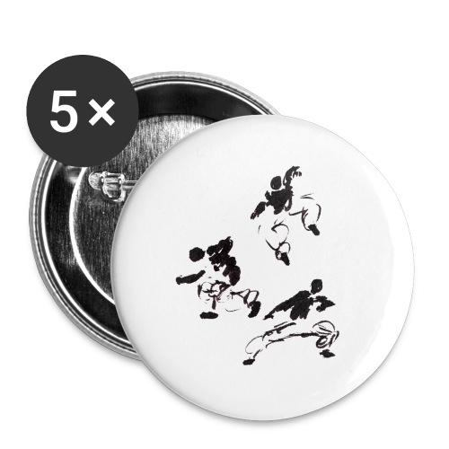 3 kungfu - Buttons small 1''/25 mm (5-pack)