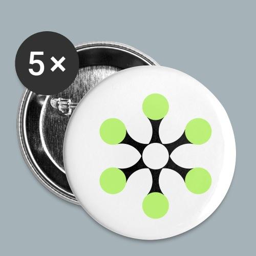 Star Bio T-shirt - Buttons klein 25 mm (5-pack)