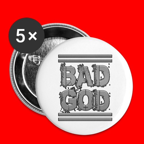 BadGod - Buttons small 1''/25 mm (5-pack)