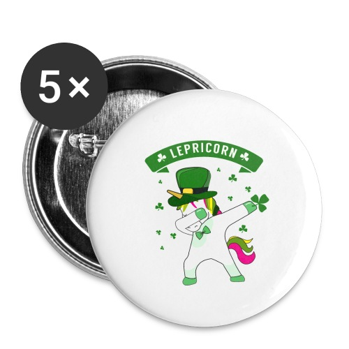 Lepricorn - St. patricks Day Unicorn dab pose - Buttons klein 25 mm (5er Pack)