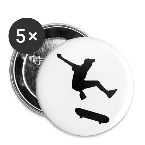 rollbrett skater skateboarding graffity skatepunk - Buttons klein 25 mm (5er Pack)