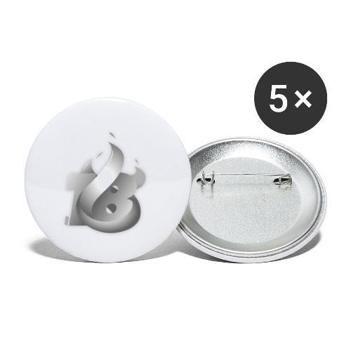 MCS 2018 grau - Buttons klein 25 mm (5er Pack)