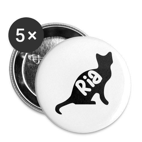 Team Ria Cat - Buttons small 1''/25 mm (5-pack)