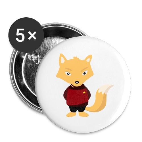 Renard Starship - Lot de 5 petits badges (25 mm)