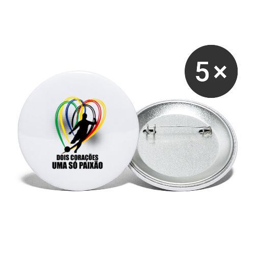 Fußball-Shirt Brasilien - Deutschland - Buttons klein 25 mm (5er Pack)