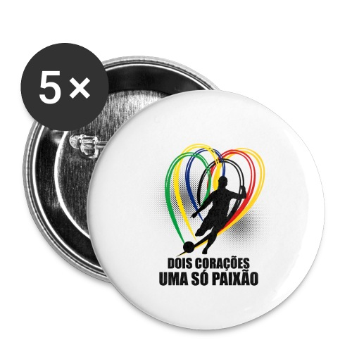Fußball-Shirt Brasilien - Deutschland - Buttons klein 25 mm
