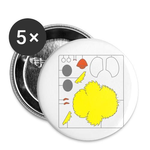 Küken Do-it-yourself - Buttons klein 25 mm (5er Pack)