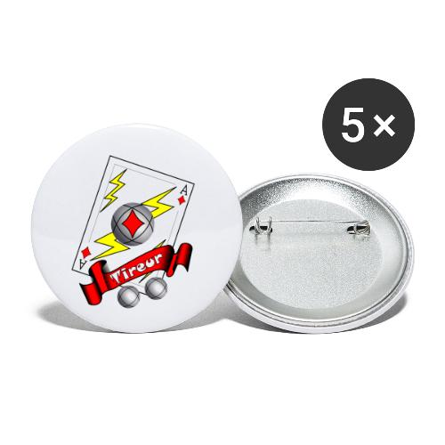 t shirt petanque tireur as du carreau boules - Lot de 5 petits badges (25 mm)