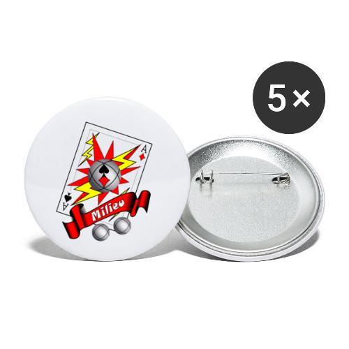 t shirt petanque milieu as des pointeurs as du tir - Lot de 5 petits badges (25 mm)