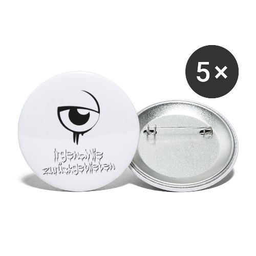 irgendwie zurueckgeblieben - Buttons klein 25 mm (5er Pack)