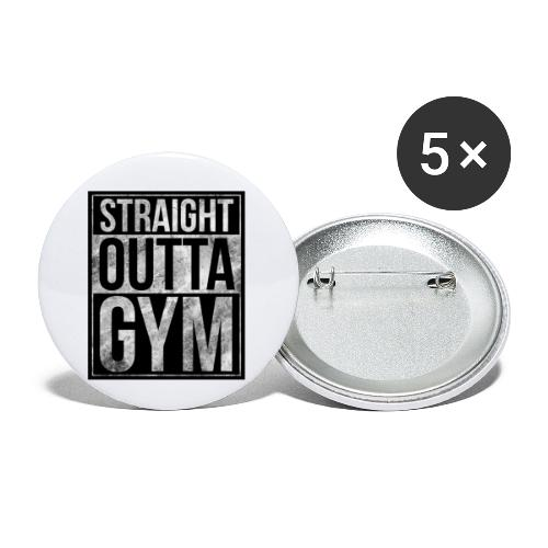 Fitness design - Straight Outta Gym - Buttons small 1''/25 mm (5-pack)