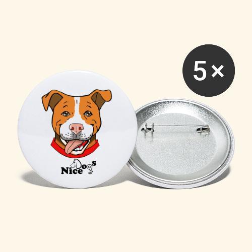 pitbull2 - Confezione da 5 spille piccole (25 mm)